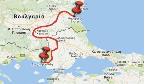 Mpourgkas-Aleksnadroupoli-Xartis-Red-Line