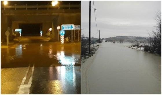Πλημμύρες στον Έβρο: κλειστοί δρόμοι από την απότομη νεροποντή