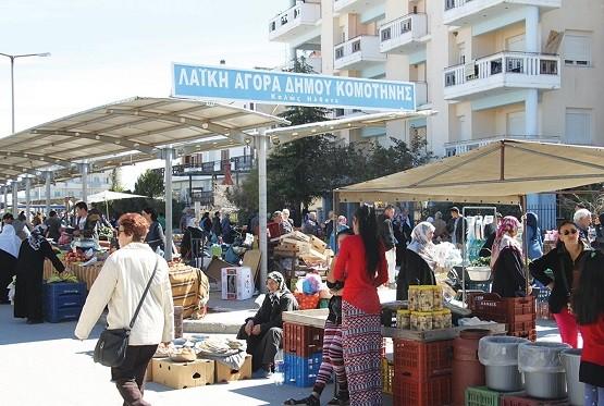 Φουντώνει το παραεμπόριο στις λαϊκές αγορές Κομοτηνής και Σαπών