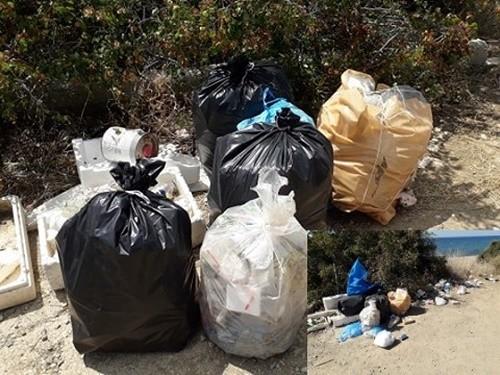 Ντροπιαστική η εικόνα των σκουπιδιών στη Μεσημβρία – Η εθελόντρια τα μάζεψε και μια εβδομάδα τώρα περιμένει το απορριμματοφόρο