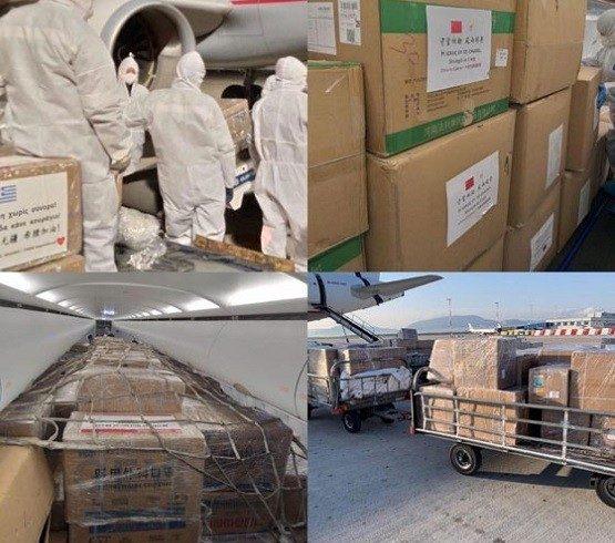 Έφτασε στην Ελλάδα μεγάλη ποσότητα υγειονομικού υλικού δωρεά του Ιδρύματος Ωνάση & Ελλήνων Εφοπλιστών