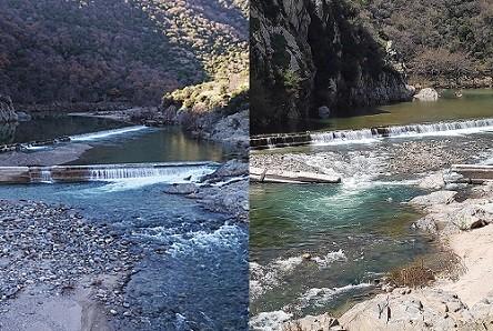 Φθορές στην παλιά γέφυρα Κομψάτου και εντός του ποταμού