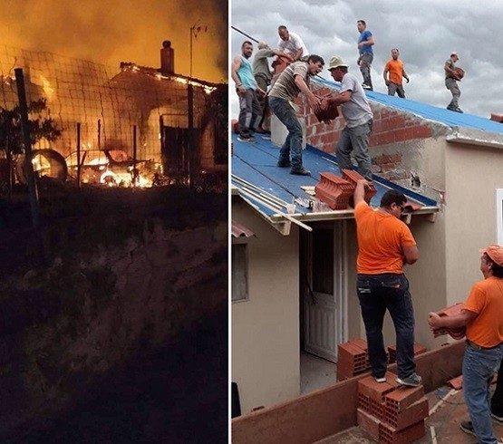 Δαδιά: Βοήθησαν όλοι να ξαναφτιαχτούν τα δύο σπίτια που καταστράφηκαν από την φωτιά – Συγκινητικές εικόνες